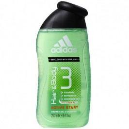 Adidas Hair & Body Active Start 3 v 1 sprchový gel pro muže na tělo, vlasy a obličej 400 ml