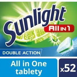 Sunlight All in 1 Tablety do myčky nádobí 52 ks