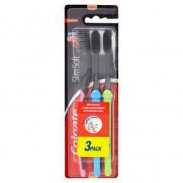 Colgate Charcoal Slim Soft zubní kartáček 3 ks/bal.