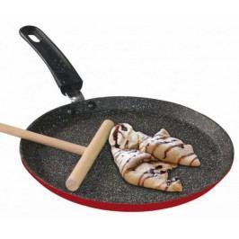 Pánev na palačinky s mramorovým povrchem 24 cm, rubínově červená STONELINE WX-13691