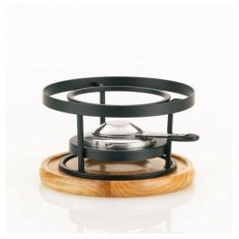 Ohřívač  RUSTICA černý kov/dřevo KELA KL-60290