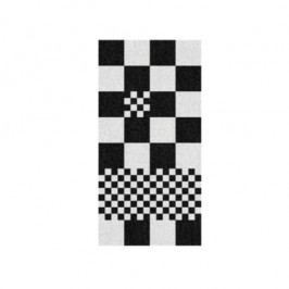 Osuška LADESSA, 100% bavlna, černá kostka 70x140cm KELA KL-22208