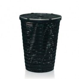 Koš na prádlo NOBLESSE PP plast, černý 41x56 cm KELA KL-22782