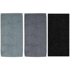 Ručník LADESSA 50x100 cm, sada 3 ks šedá, černá  KELA KL-10306