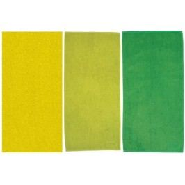 Ručník LADESSA 50x100 cm, sada 3 ks žlutá, zelená KELA KL-10307