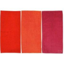 Ručník LADESSA 50x100 cm, sada 3 ks červená, broskvová KELA KL-10308