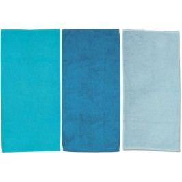 Ručník LADESSA 50x100 cm, sada 3 ks modrá, tyrkysová KELA KL-10309