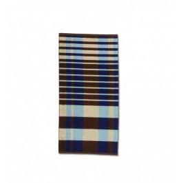 Ručník MONTANA 50x100 cm, modrý / hnědý KELA KL-20487