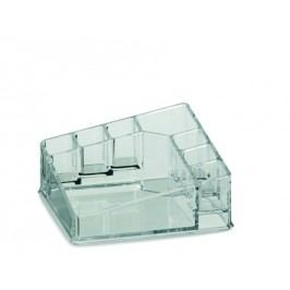 Kosmetická dóza SAFIRA plast, transparent, 14x14x6,5cm       KELA KL-22013