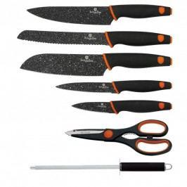 Sada nožů s mramorovým povrchem 7 ks Granit Diamond Line BERLINGERHAUS BH-2117