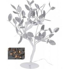 Vánoční světelný strom stříbrné listy, 96LED, 100 cm, teplá bílá         EXCELLENT KO-AXF201370