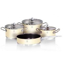 Sada nádobí nerez / mramor 7 ks Cream Metallic Passion BERLINGERHAUS BH-1320