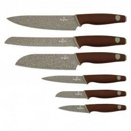 Sada nožů s mramorovým povrchem 6 ks Granit Diamond Line  BERLINGERHAUS BH-2113