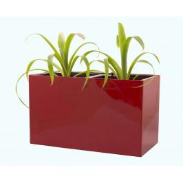 Samozavlažovací květináč Combi červený 56 x 28 cm