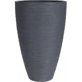 Květináč žebrovaný 28 x 43 cm šedá