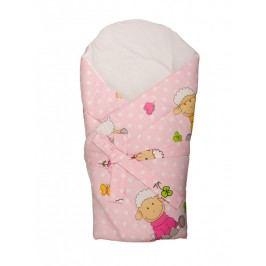 Zavinovačka s výztuží - ovečky - růžová