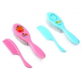BABY ONO - Kartáček a hřeben na vlasy - růžová