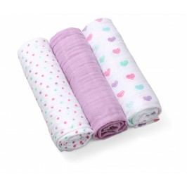 BABY ONO - Plenky mušelínové - Super soft 3ks - Fialové