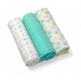 BABY ONO - Plenky mušelínové - Super soft 3ks - pepermintová