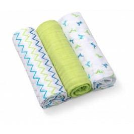 BABY ONO - Plenky mušelínové - Super soft 3ks - Zelené
