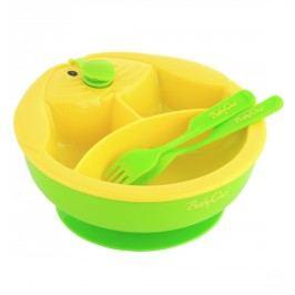 Miska trojdílná s příborem - zelená