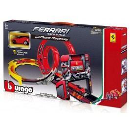 BBURAGO -  Bburago 1:43 Ferrari Race & Play GoGears Raceway s jedním autíčkem 31301