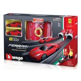 BBURAGO -  Bburago 1:43 Ferrari Race & Play Launcher se dvěma autíčky 31205
