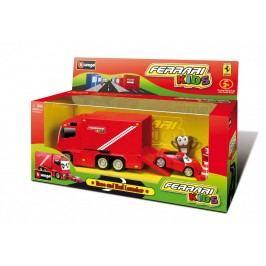 BBURAGO -  Ferrari Kids Race & Haul Launcher nákladní auto