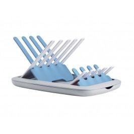 Skládací odkapávač kojeneckých lahví - šedá / modrá