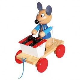 Bino - 80035 Tahací Myška s xylofonem