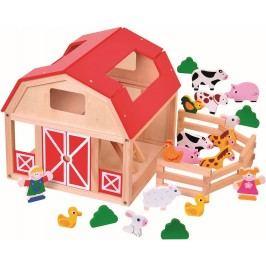 BINO - 82221 dřevěná farma se zvířátky