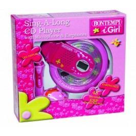 BONTEMPI - CD přehrávač s mikrofonem a sluchátky SD9771