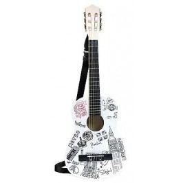 BONTEMPI - Klasická dřevěná kytara 85 cm s moderním designem Londýn 238512