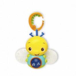Hračka svítící včelka s melodií na C-kroužku Beaming Buggie ™ 0m +