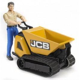 BRUDER - Pásový přepravník JCB s figurkou