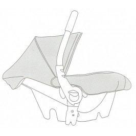 CASUALPLAY - Náhradní díl - stříška a nánožník na Baby 0+ (černá 631)