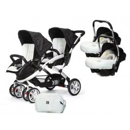 CASUALPLAY - Set kočárek pro dvojčata Stwinner, 2 x autosedačka Baby 0plus a Bag 2017 - ICE