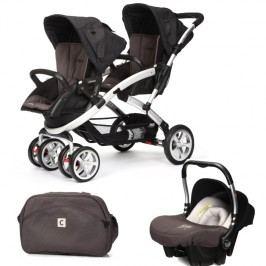 CASUALPLAY - Set kočárek pro dvojčata Stwinner, 2 x autosedačka Baby 0plus a Bag 2017 - LAVA ROCK