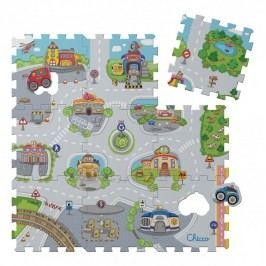 Pěnové puzzle Město 30x30cm 9ks