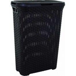 CURVER - Koš na špinavé prádlo Rattan 40 l - Hnědý