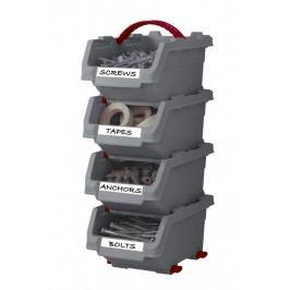 CURVER - Plastový box Click 4 dílná sada, 8,5 x 11 x 15,5 cm