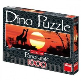 DINO - Žirafy při západu slunce 1000D panor.
