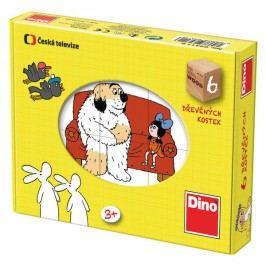 DINOTOYS - Dřevěné kostky Pohádky 6 ks