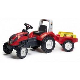 FALK - Šlapací traktor 1051AB Ranch Track s vlečkou červený