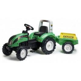 FALK - Šlapací traktor 1052AB Ranch Track s vlečkou zelený