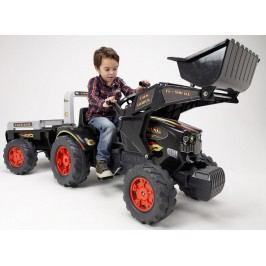FALK - Šlapací traktor 1075M Farm King s nakladačem a vlečkou
