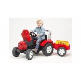 FALK - Šlapací traktor 2020 FARM LANDER Z240X s vlečkou červený
