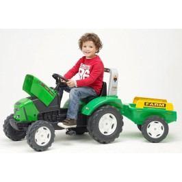 FALK - Šlapací traktor 2021 FARM LANDER Z240X s vlečkou zelený