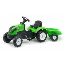 FALK - Šlapací traktor 2057J Garden master zelený s vlečkou