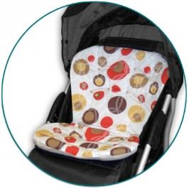 IVEMA BABY - Vložka do kočárku Uni Color - béžové bubliny / béžová